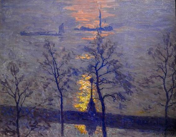 Emile Claus - sunset, london
