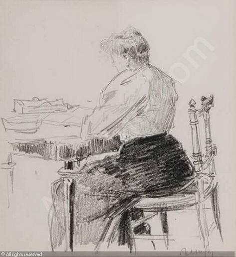Jean Constant Raymond Renefer -  Elegante ecrivant