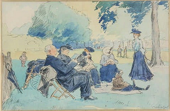 Jean Constant Raymond Renefer - An afternoon in the park