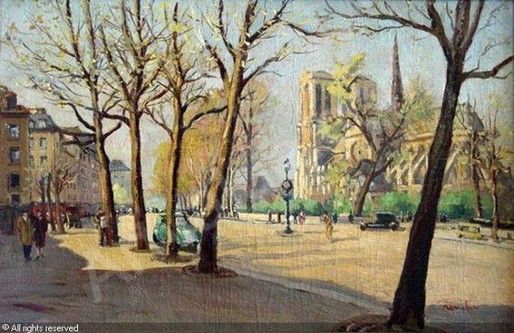 Jean Constant Raymond Renefer - Pariser Strabenszene