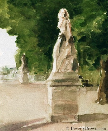 Beverly Brown  - Beverly Brown  - statues jardin du luxembourg