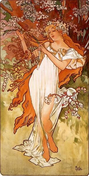 Alfons  Mucha -  Spring