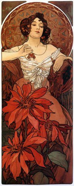 Alfons  Mucha -  The Precious Stones