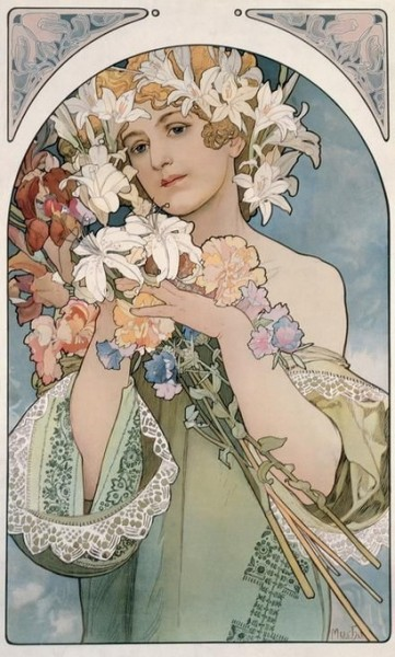 Alfons  Mucha -  Flower