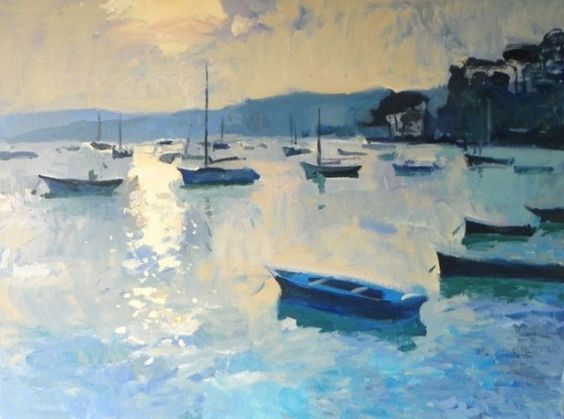 Andrew Tozer - Sparking Light from Flushing Quay