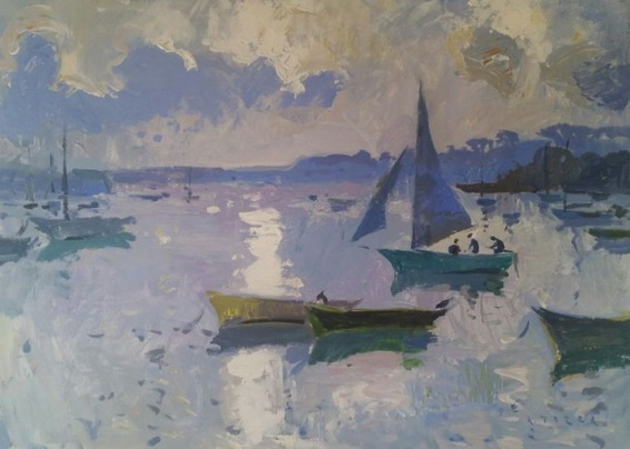 Andrew Tozer - Soft colours of evening from Flushing