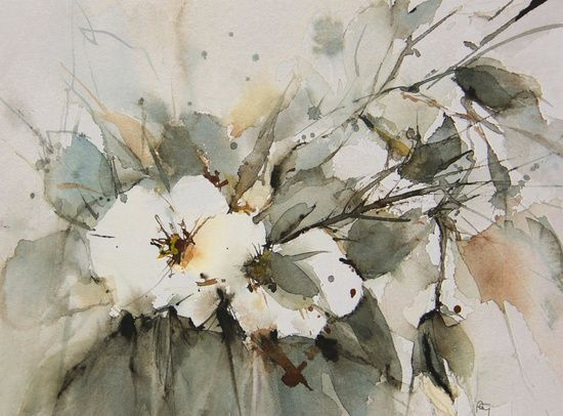 Annemiek Groenhout - white roses