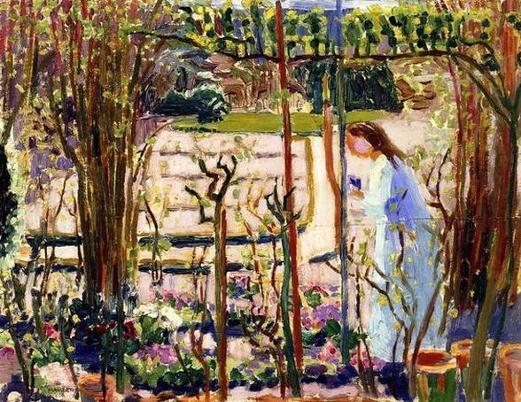 Maurice Denis -  Woman in a Garden