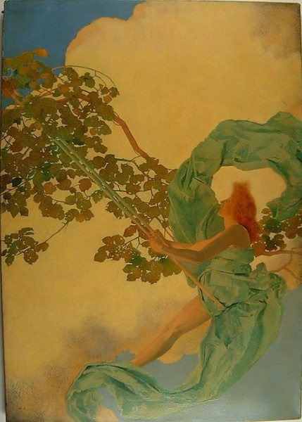 Maxfield Parrish - Girl on a Swing