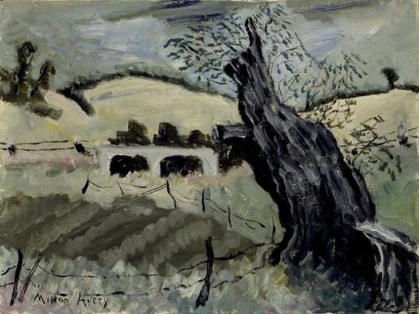 Milton Avery -   Landscape with Tree