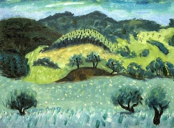 Milton Avery -   Landscape and Rolling Hills