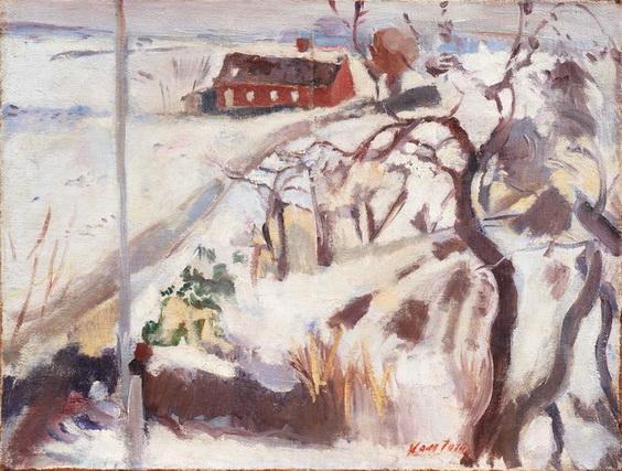 Mogens Christian Vantore - The Red Farmhouse