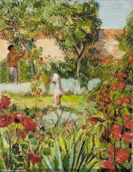 Vanessa Bell  Duncan Grant in the garden