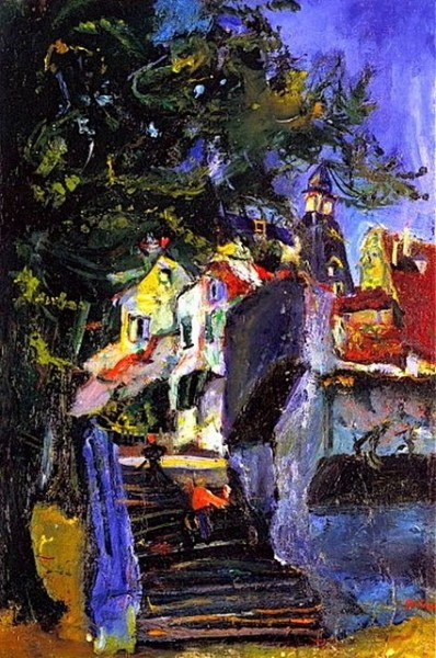 Chaim Soutine - Stairway in Chartres