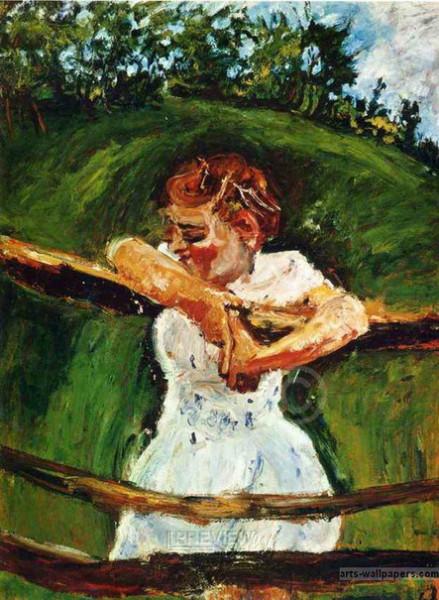 Chaim Soutine - Девочка на изгороди