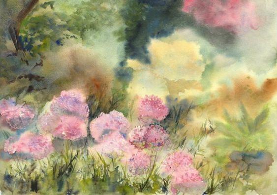 Vandy Massey - Alliums in the Garden