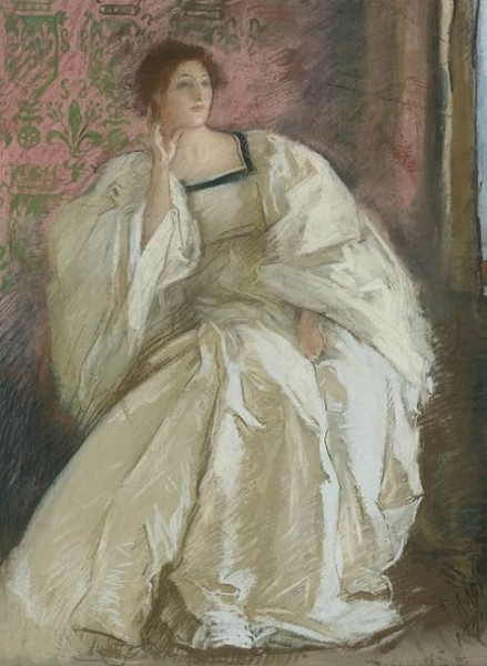 Edwin Austin Abbey - Woman in White