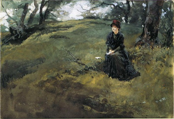 Edwin Austin Abbey - Woman in the Woods