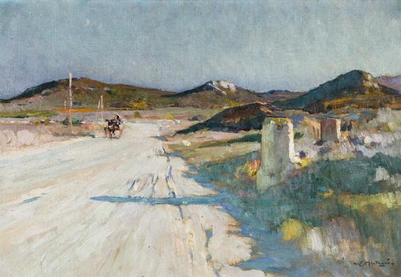 Agricol Louis Montagne -  La route sur le plateau des