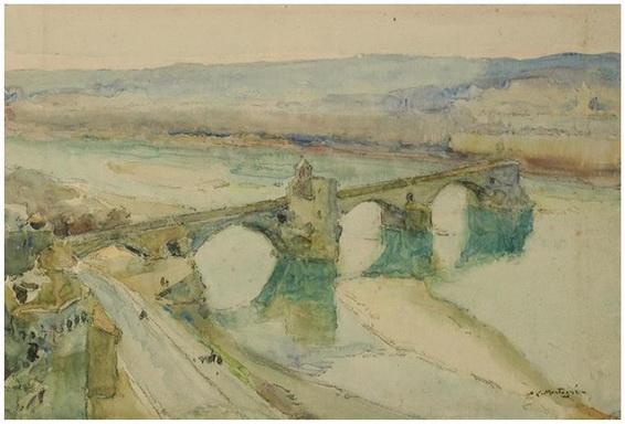 Agricol Louis Montagne -  Venice Le pont