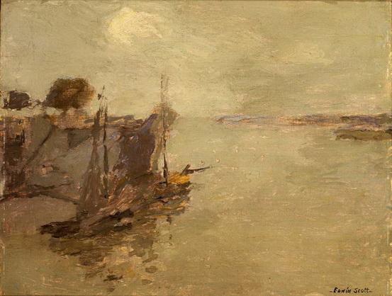 Frank Edwin Scott - Honfleur Fishing Boats