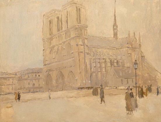 Frank Edwin Scott - Notre Dame in Winter