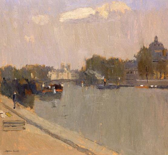 Frank Edwin Scott - The Seine at Paris