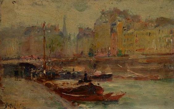 Gustave Madelain - La Seine a Paris
