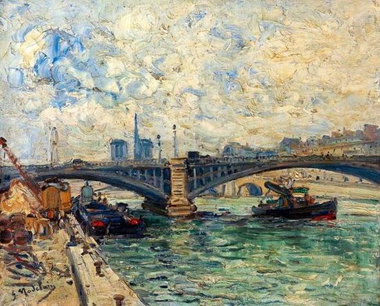 Gustave Madelain - Les quais de la Seine et Notre-Dame