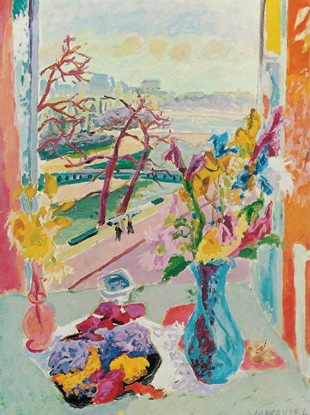 Jules Cavailles -  Paris, La Seine a Notre Dame