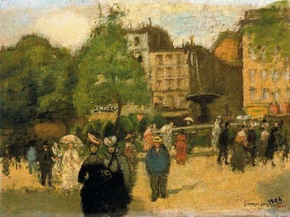 Joaquim Sunyer i Miro - La Place Pigalle