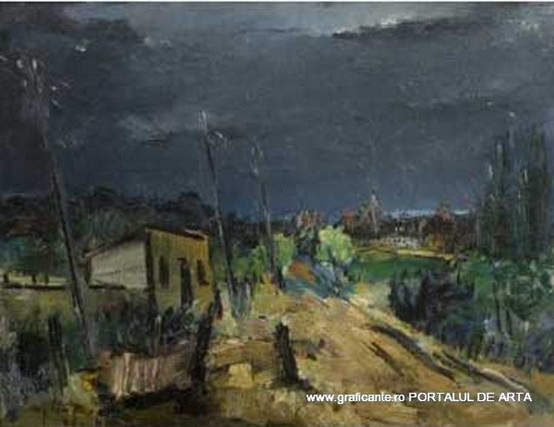 Gheorghe Vanatoru - Peisaj in furtuna