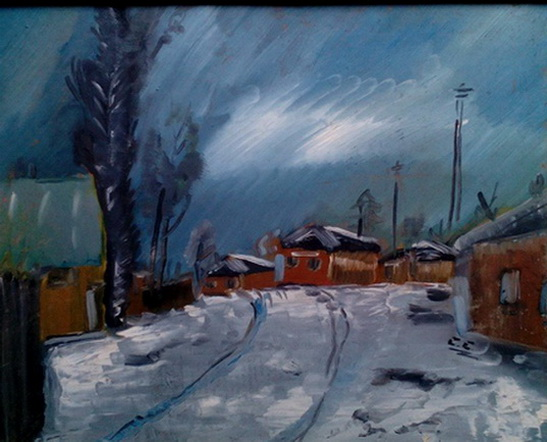 Gheorghe Vanatoru - Peisaj de iarna tablou