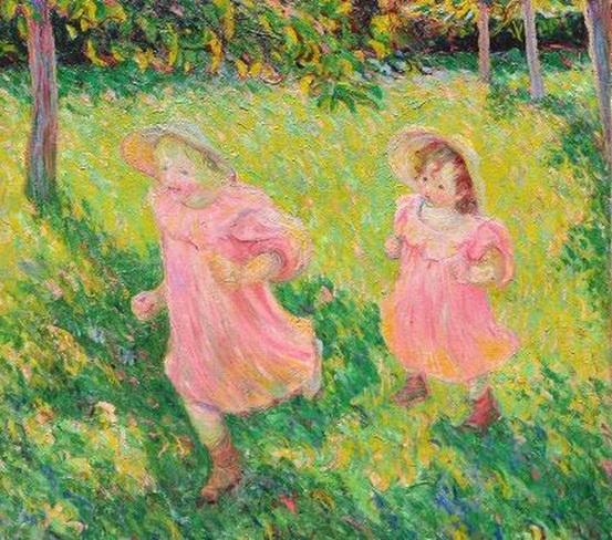 Theodore Earl Butler - Jimmy et Lily Butler running in the Garden