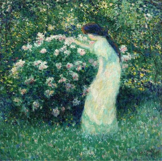 Theodore Earl Butler - Lili Butler in Claude Monet's Garden