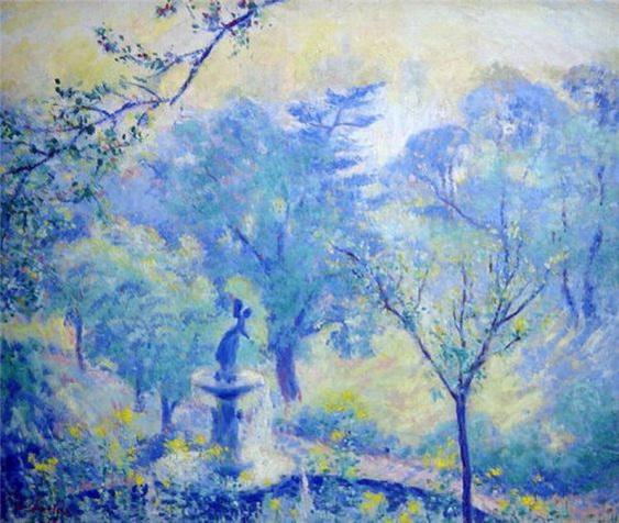 Theodore Earl Butler - Fountain, Central Park
