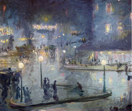 Theodore Earl Butler - The Roman Square at Night