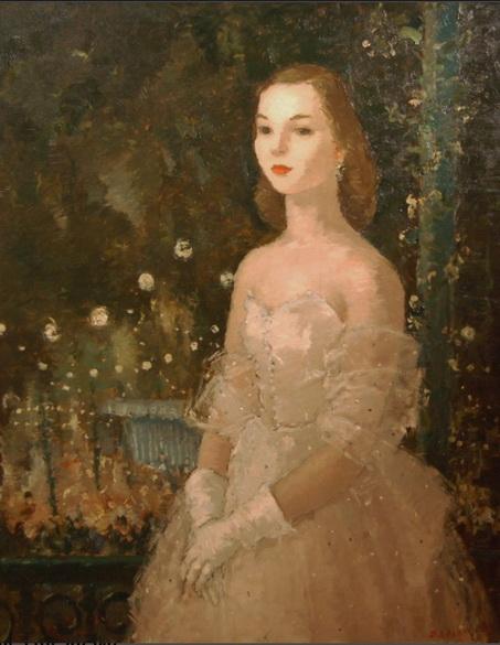 Dietz Edzard - jeune fille au bal
