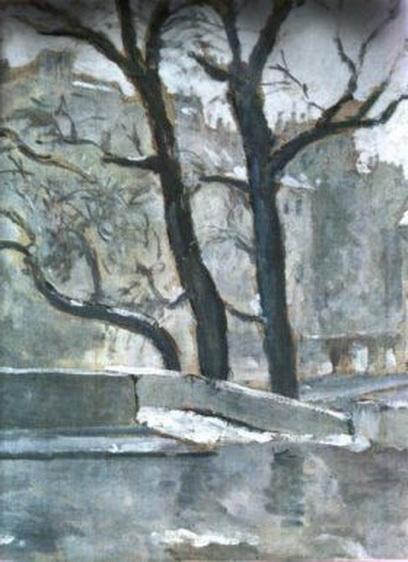 Theodor Pallady - Peisaj de iarna