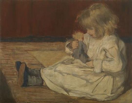 Henri Evenepoel - La fillette a la poupee