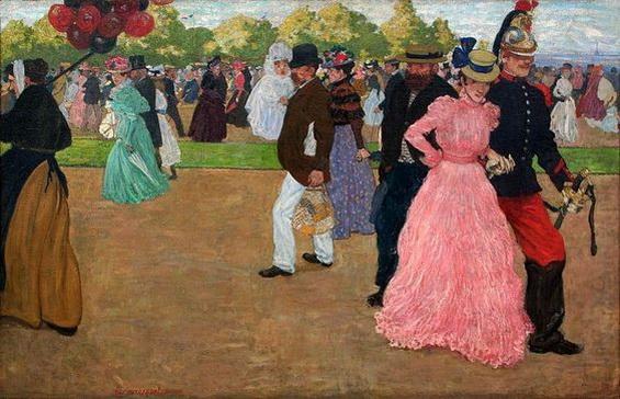 Henri Evenepoel - Sunday Stroll in the Bois de Boulogne