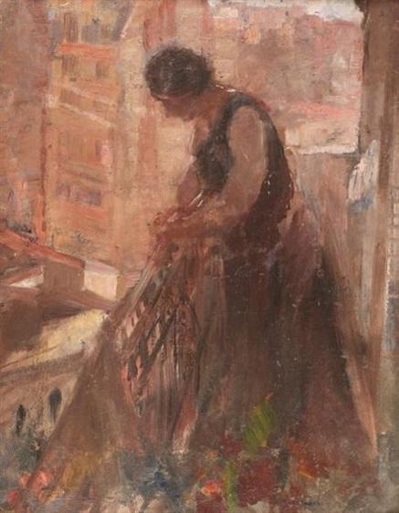 Henri Evenepoel - Femme au Balcon