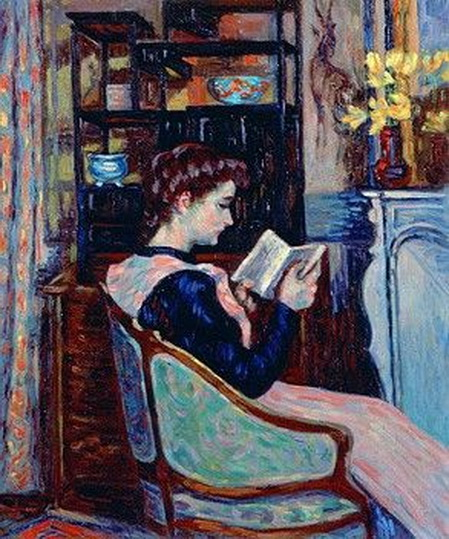 Armand Guillaumin - Mlle. Guillaumin Reading