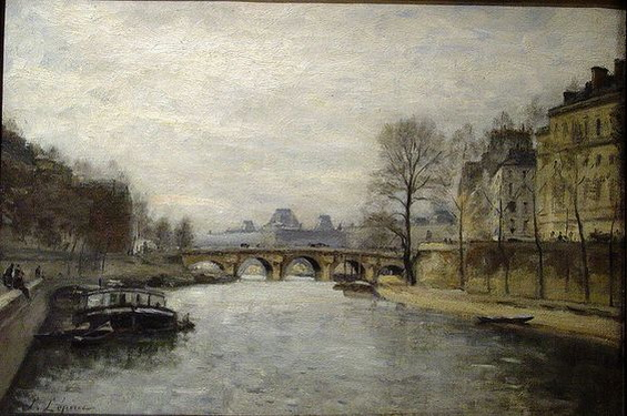 Stanislas Lepine - The Pont de L'Estacade, Paris