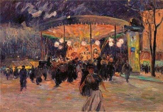 Elie Anatole Pavil - Le manege aux lampions