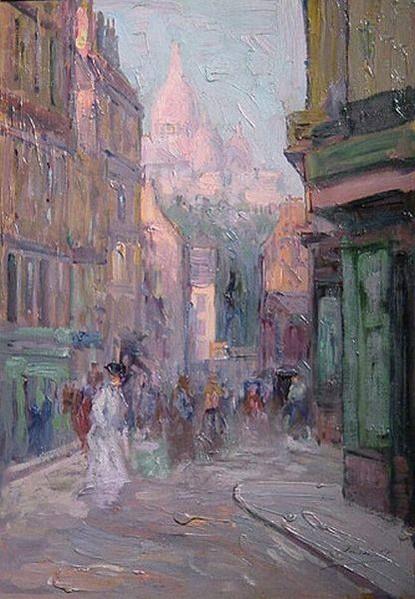 Elie Anatole Pavil - Ruelle a Montmartre