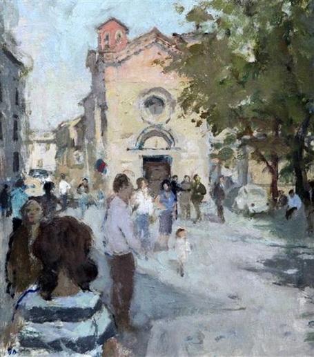 Bernard Dunstan - Bernard Dunstan - Street in Volterra
