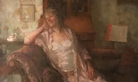 Bernard Dunstan - A portrait of his wife