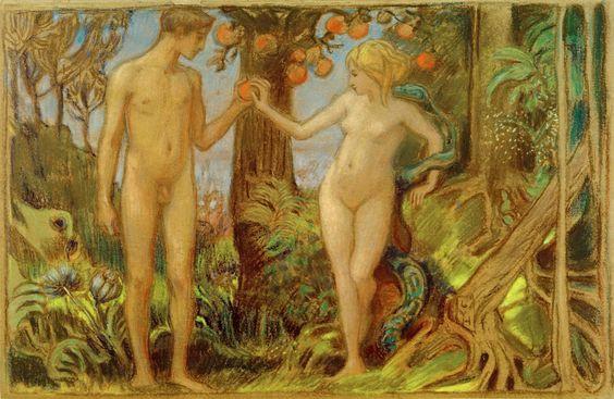 Ludwig von Hofmann - Adam und Eva