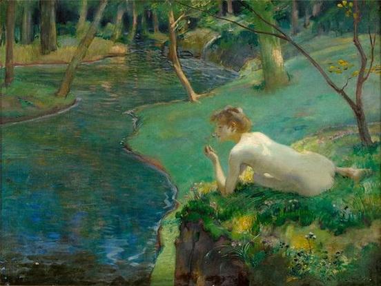 Ludwig von Hofmann - The Water Nymph